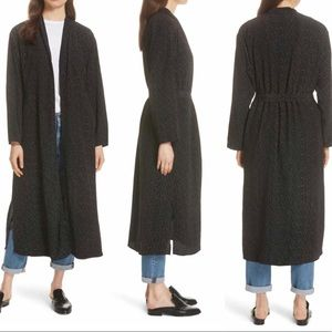 Eileen Fisher Tencel Belted Kimono Cover up Robe